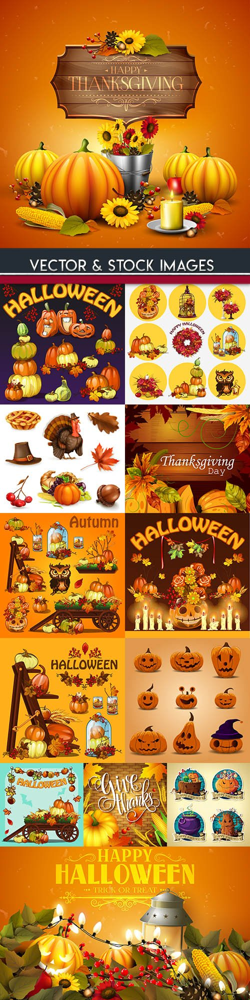 Happy Halloween holiday illustration collection 38