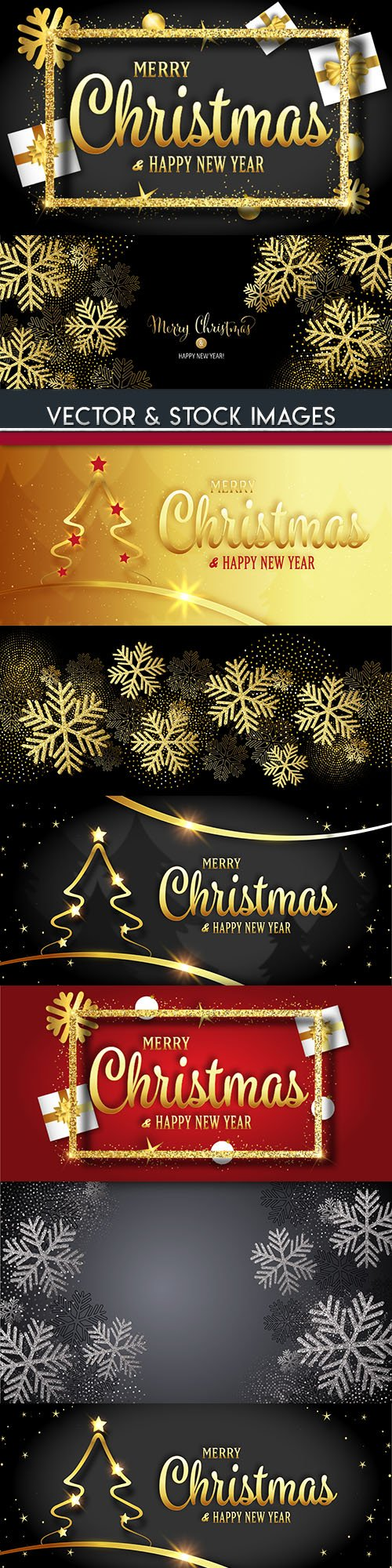 Merry Christmas and New Year background decorative 9