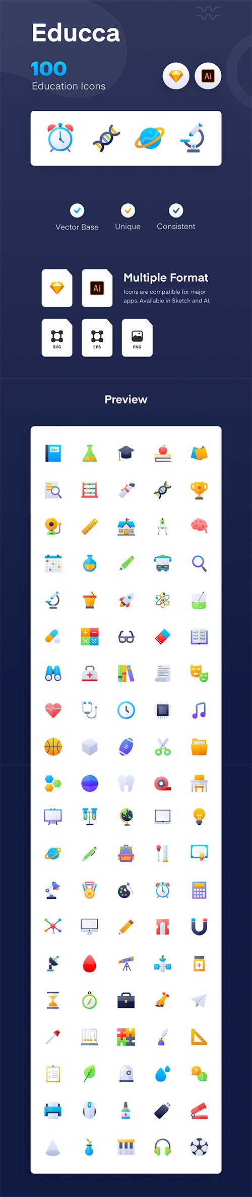 Educca : Education Icon Pack