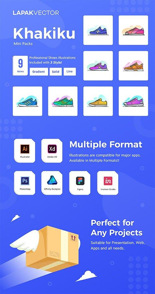 Khakiku - Shoes Illustrations
