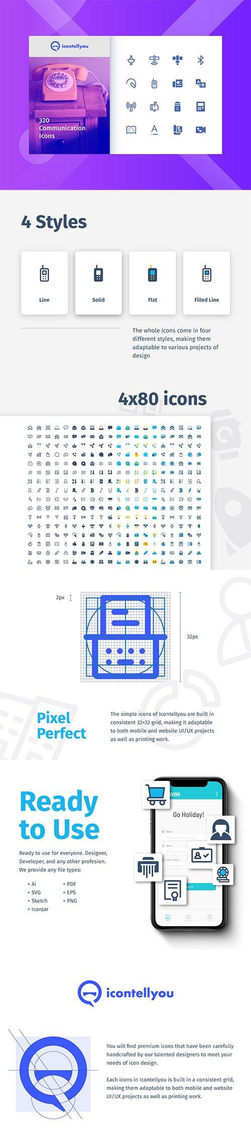 Icontellyou - Communication Icons