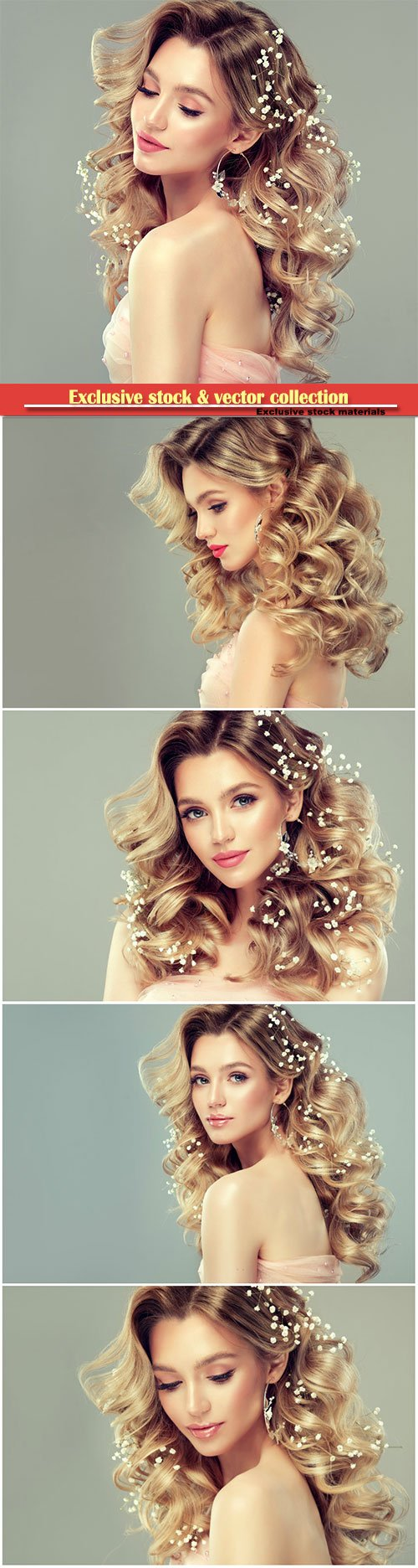 Attractive example of evening or wedding hairstyle and make up