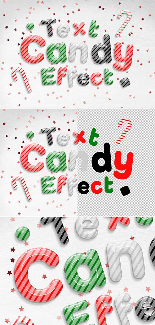 Candy Cane Text Effect Mockup 295339964 PSDT