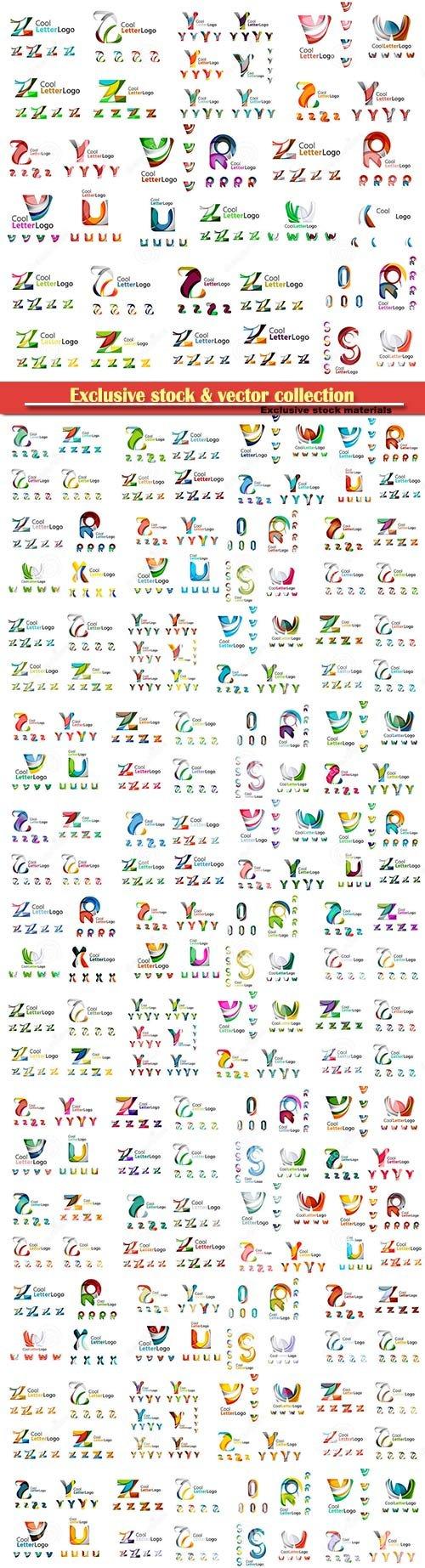 Mega set of geomeric company logos