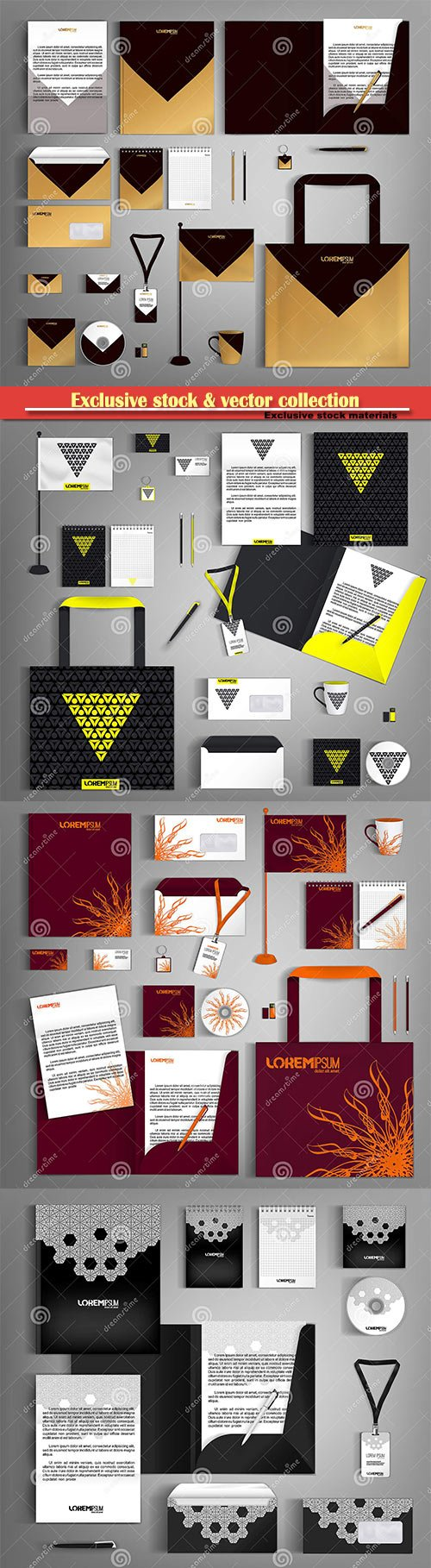 Vector template business design set of stationery, corporate identity