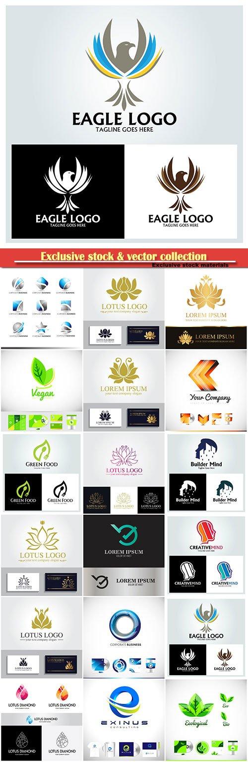 Logo vector template business set # 82