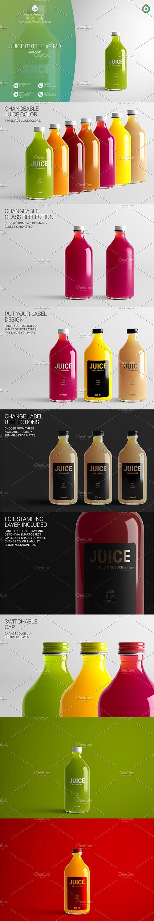 CreativeMarket - Juice Bottle MD Mock-Up #3 [V2.0] 4169520