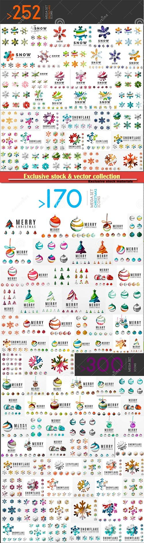 Mega set of Christmas Logos