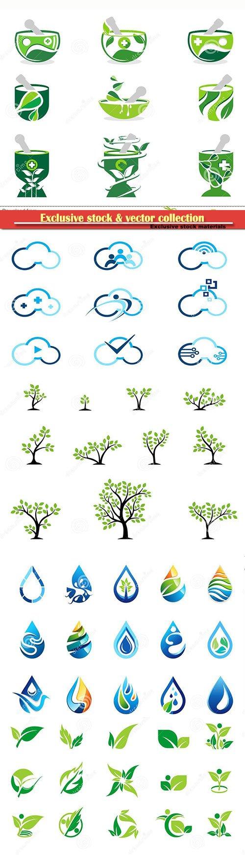 Logo and symbol icon set of vector designs