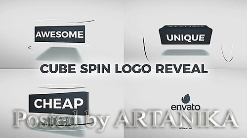 VideoHive - Cube Spin Logo Reveal 20925658