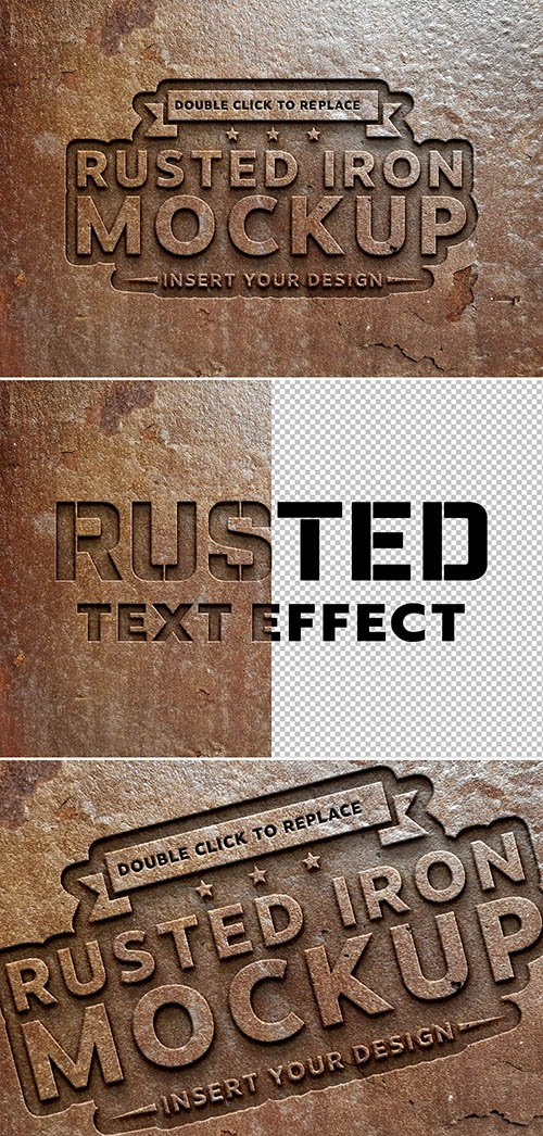 Rusted Metal Text Effect Mockup 291974059 PSDT