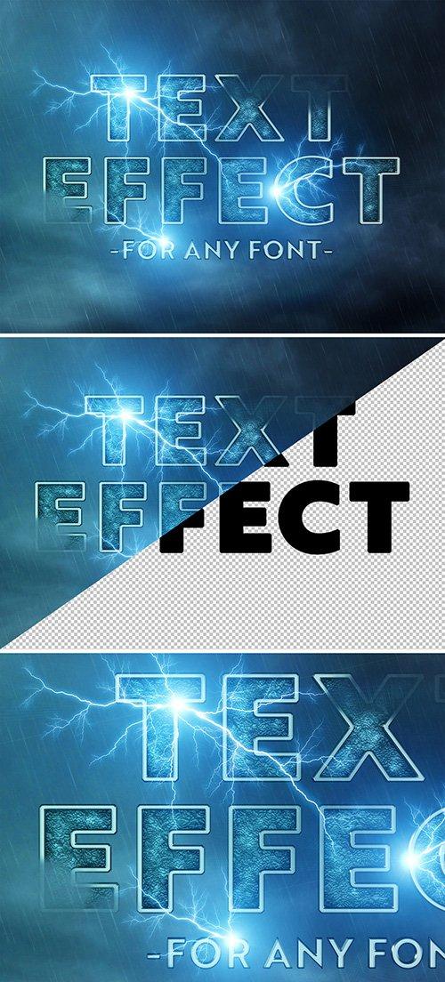 Lightning Storm Text Effect Mockup 289338600 PSDT