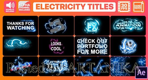 Electricity Titles Collection | After Effects 24834270