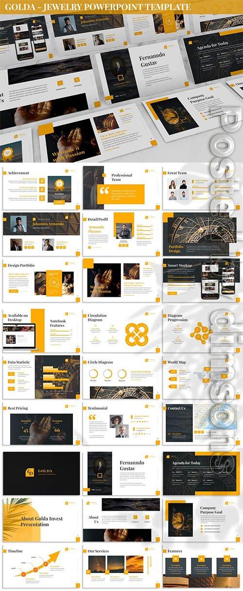 Golda - Jewelry Powerpoint Template