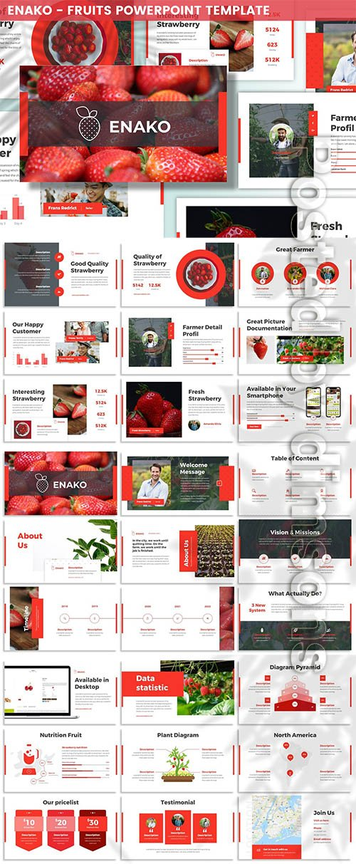 Enako - Fruits Powerpoint Template