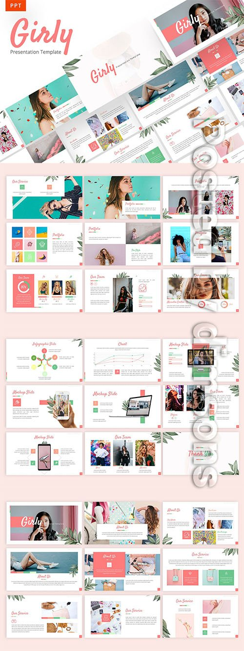 Girly - Beautiful Powerpoint, Keynote and Google Slides Templates