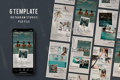 Beach Instagram stories