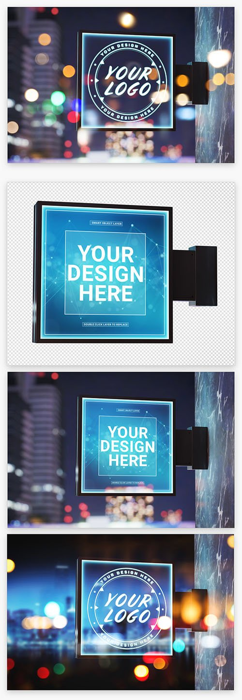 Outdoor Square Sign Mockup 222042140 PSDT