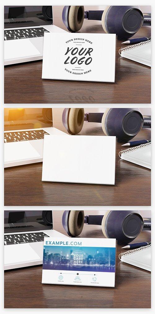 Business Cards On Wooden Desk Mockup 222848702 PSDT