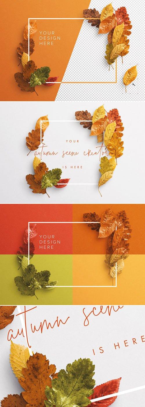 Autumn Leaves Frame Mockup 281699171 PSDT