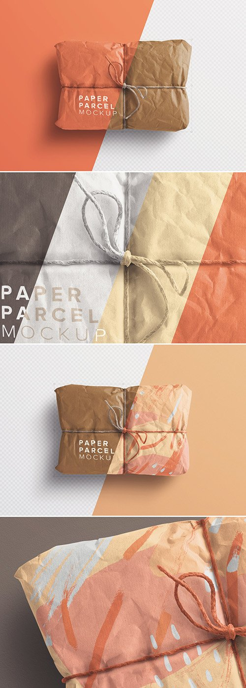 Paper Parcel Mockup with Twine 258201480 PSDT