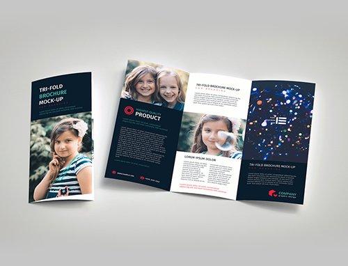 Tri-Fold Brochure Mockup 223026322 PSDT