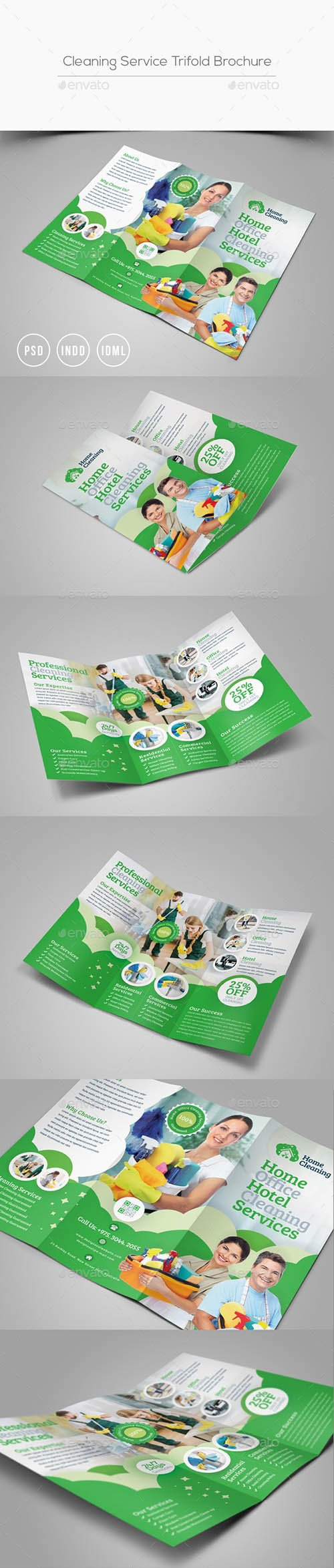 Cleaning Service Trifold Brochure 24572071