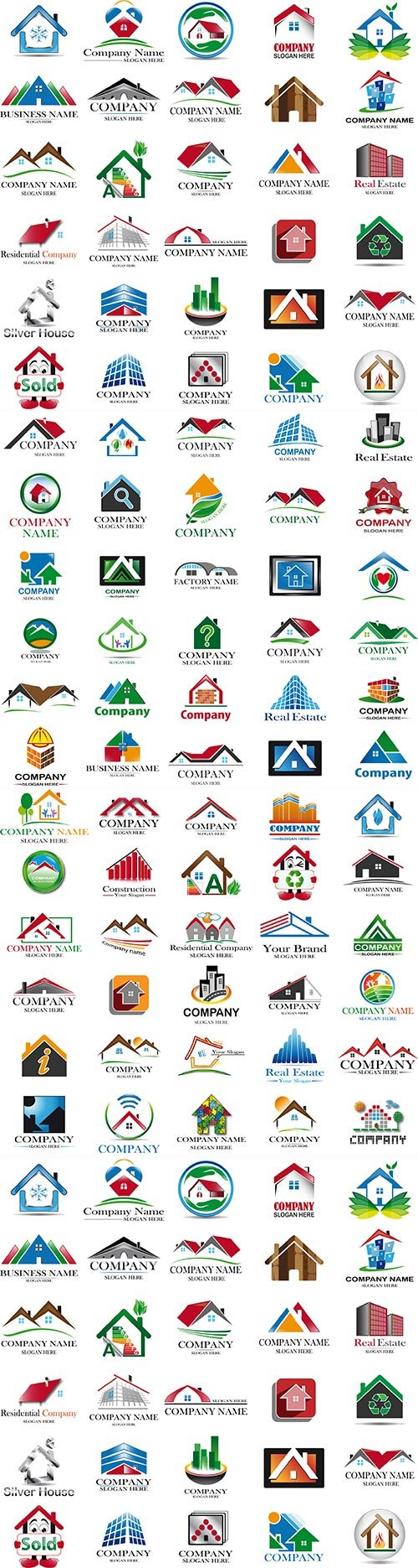 House logo and icon set project