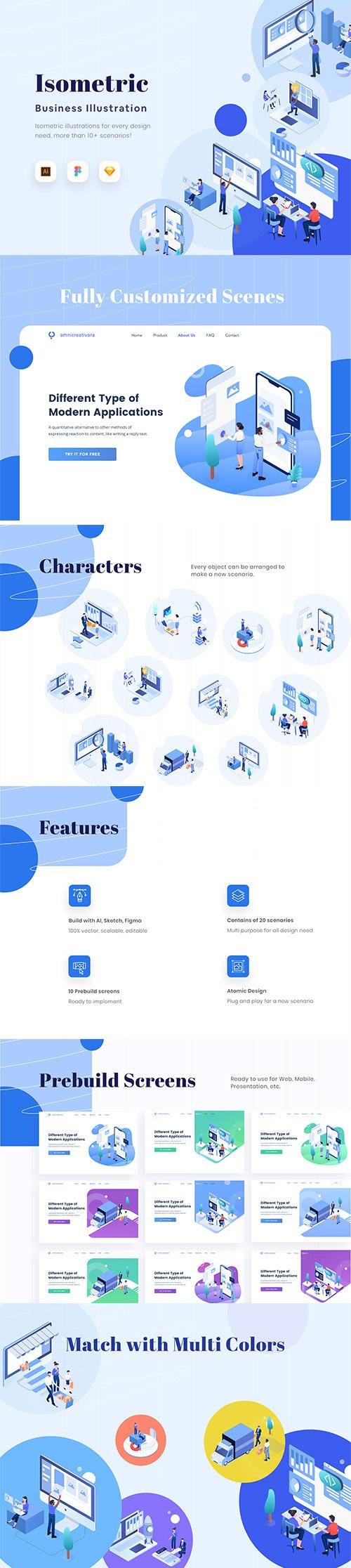 Isometric Business Vector Illustration