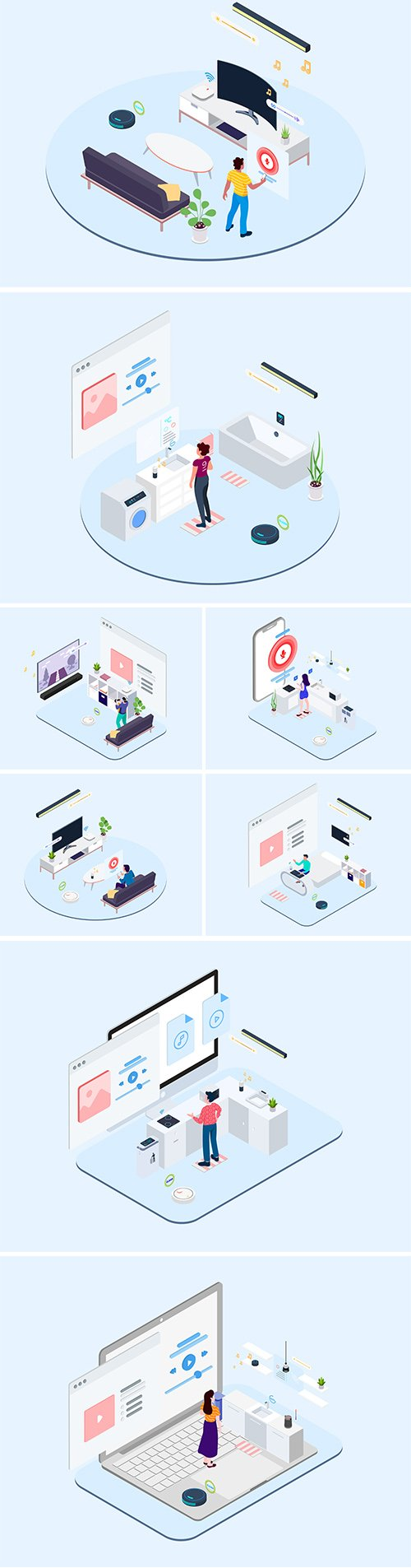 IOT Kit Isometric Vector Illustration