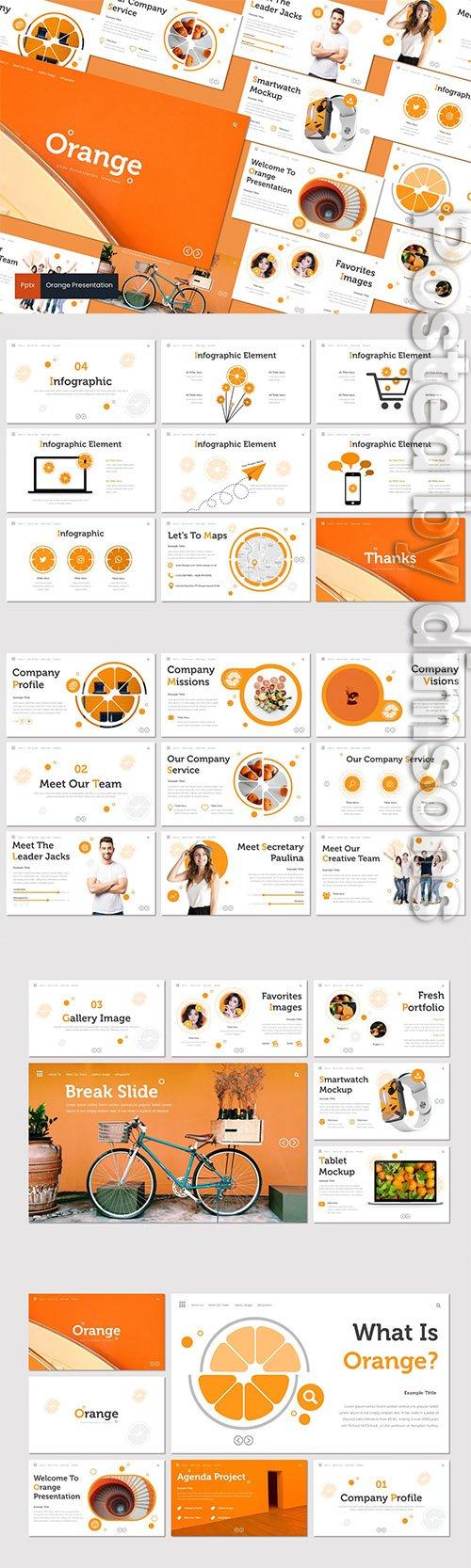 Orange - Powerpoint, Keynote and Google Slides Templates