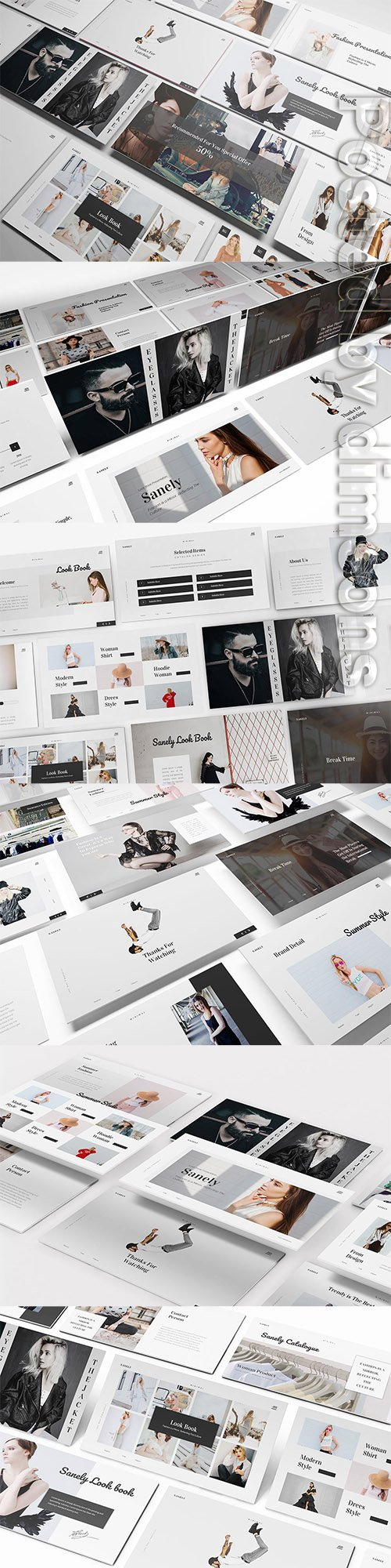 Fashion lookbook Powerpoint, Keynote and Google Slides Templates