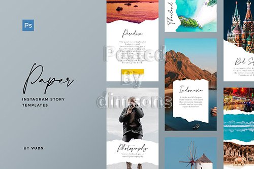 Paper Instagram Story Template