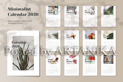Calendar 2020 Minimalist