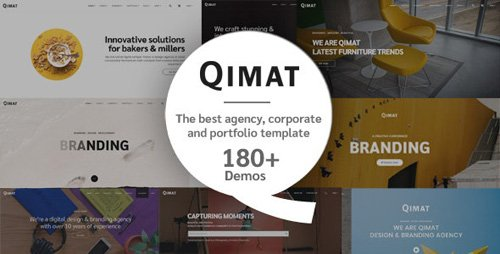 ThemeForest - QIMAT v1.0 - Creative Agency, Corporate and Portfolio Multi-purpose Template - 23523117
