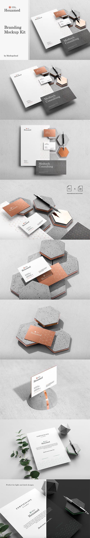 CreativeMarket - Hexamed Branding Mockup 4126226