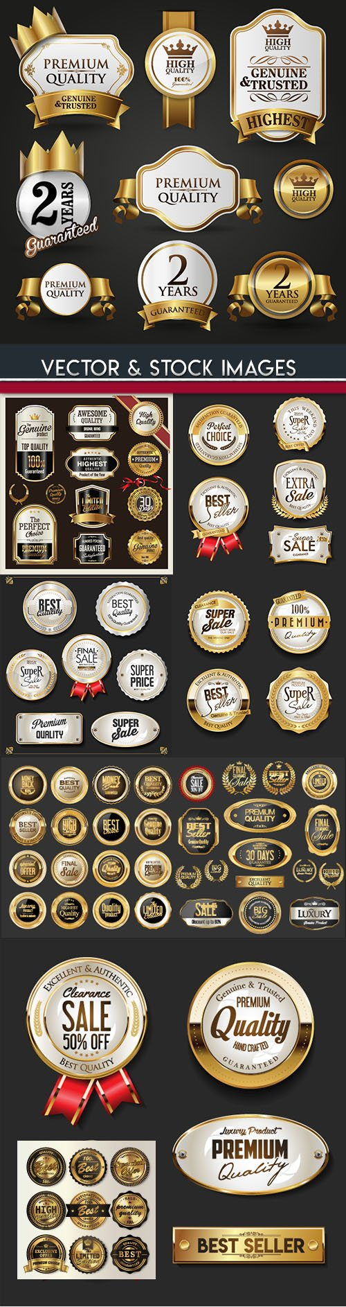 Premium quality badges and labels collection 30