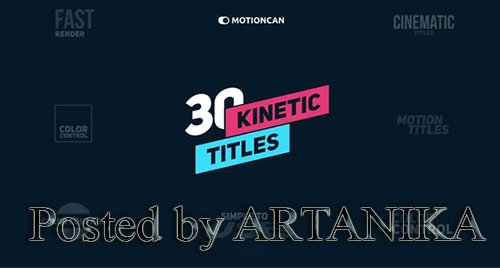 VideoHive - Kinetic Titles 18335359