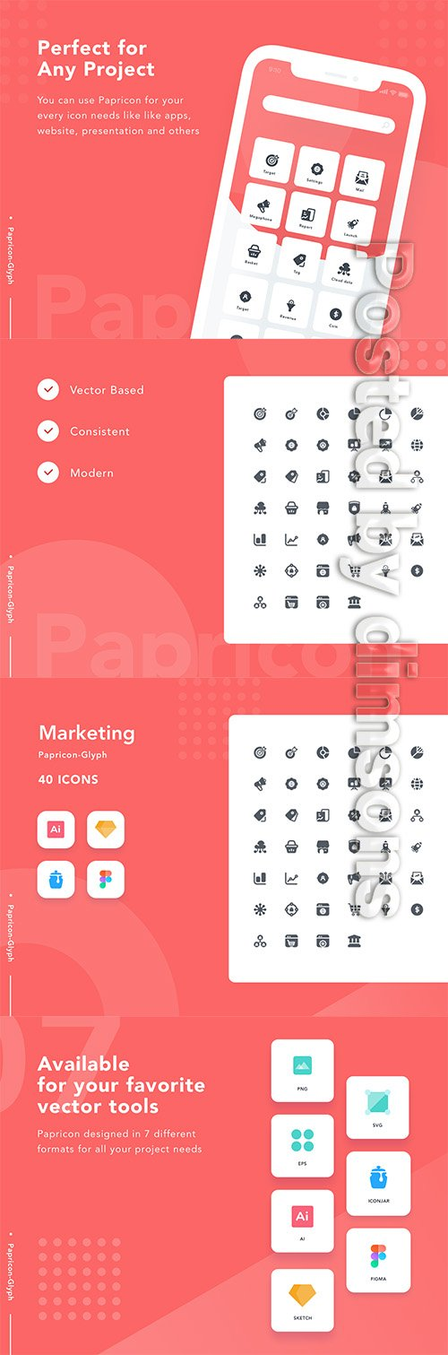 Marketing-Papricon Glyph