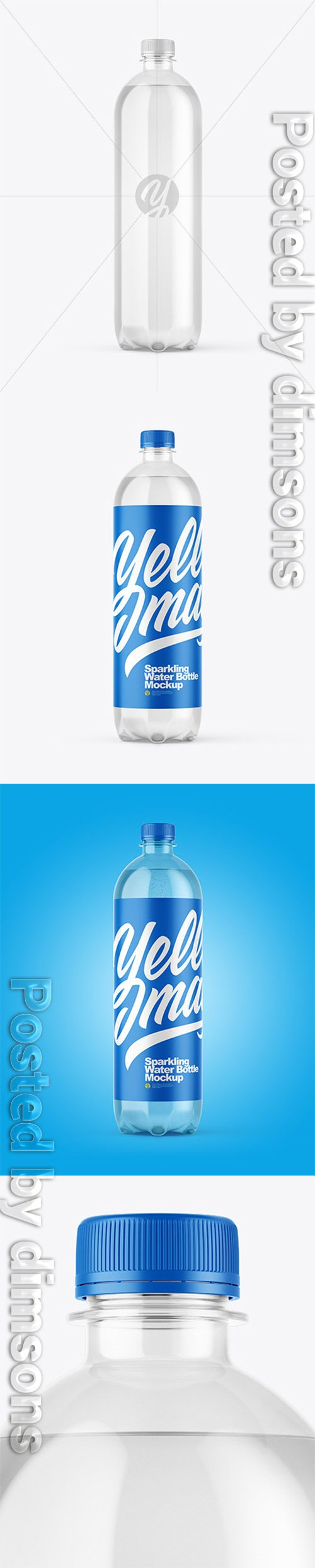 Clear Plastic Water Bottle Mockup 37815 TIF