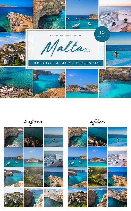 CreativeMarket - LR Presets Malta Vol. 1 4114883