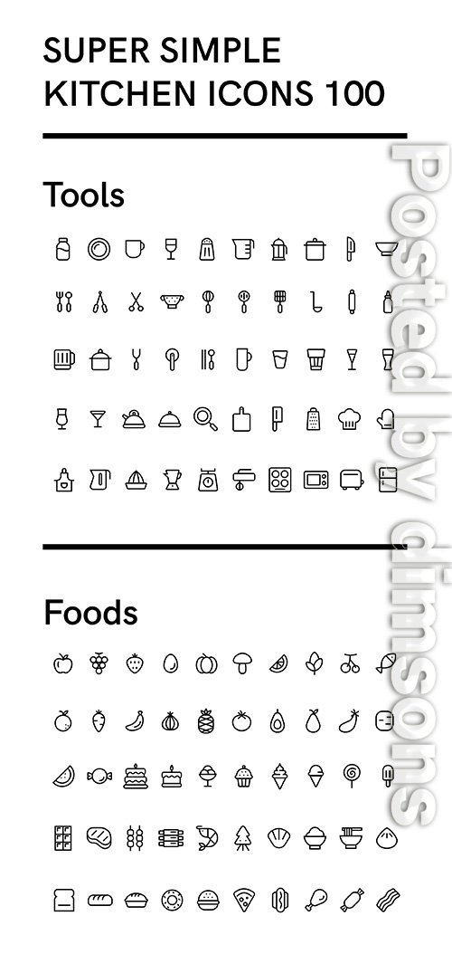 Super Simple Kitchen Icons 100