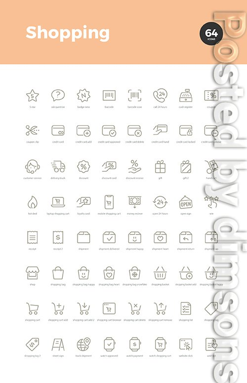 64 Shopping Icons