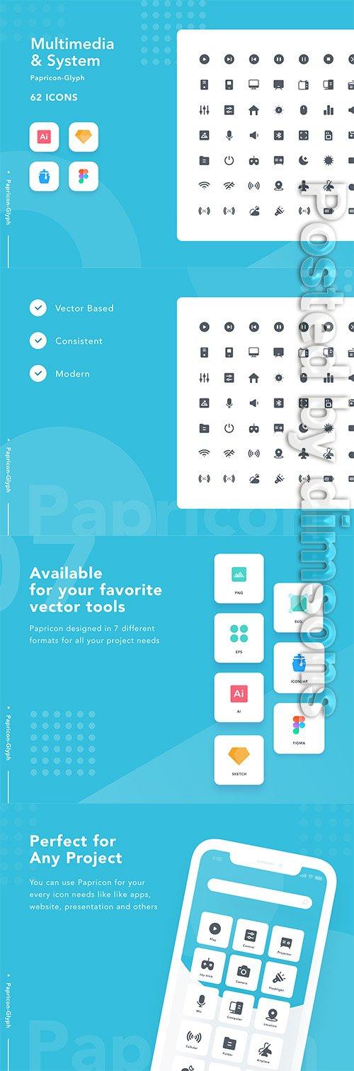Multimedia & System - Papricon Glyph