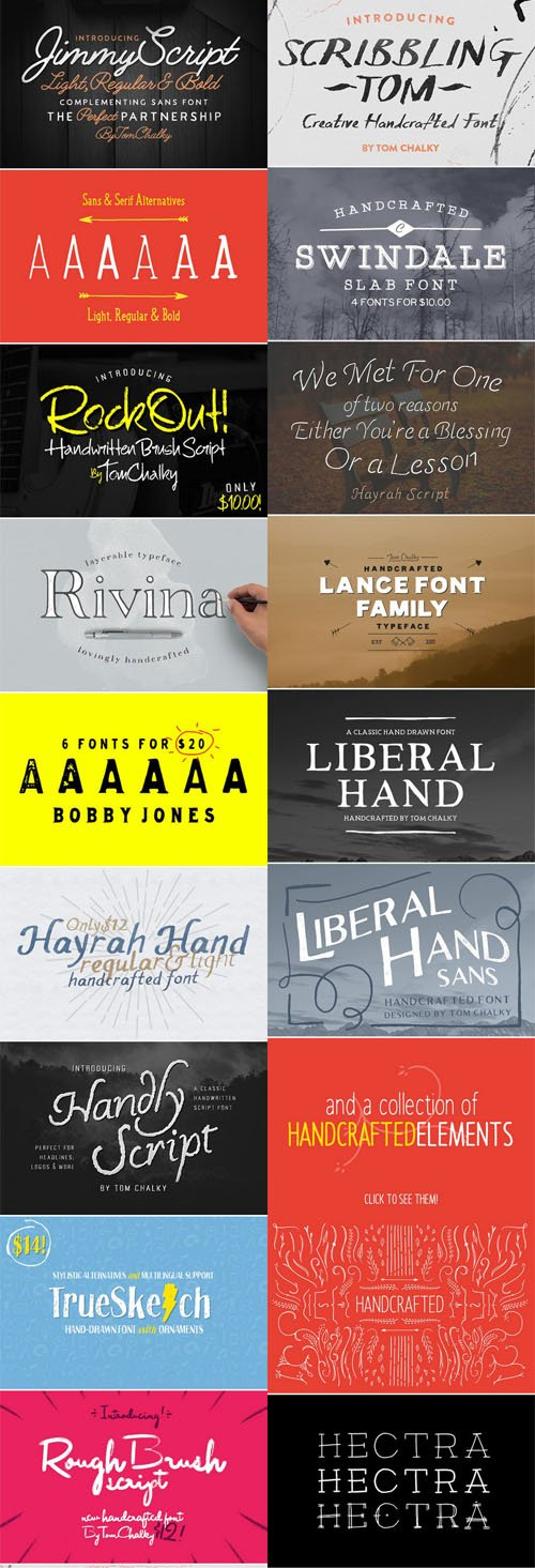 CM - Mega Font Bundle! - 44 Fonts for $36!