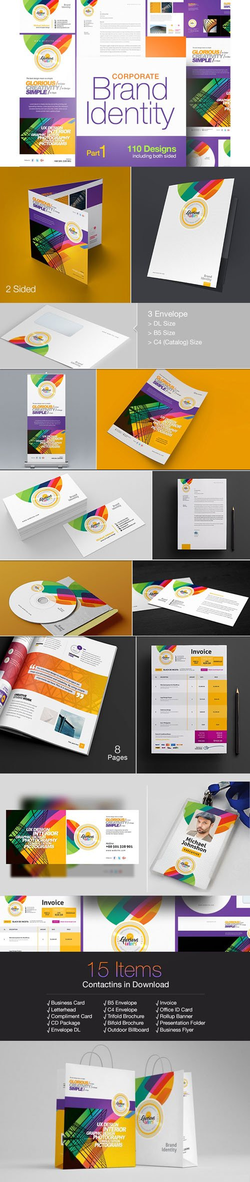 Corporate Brand Identity - Part 1 - 110 Designs