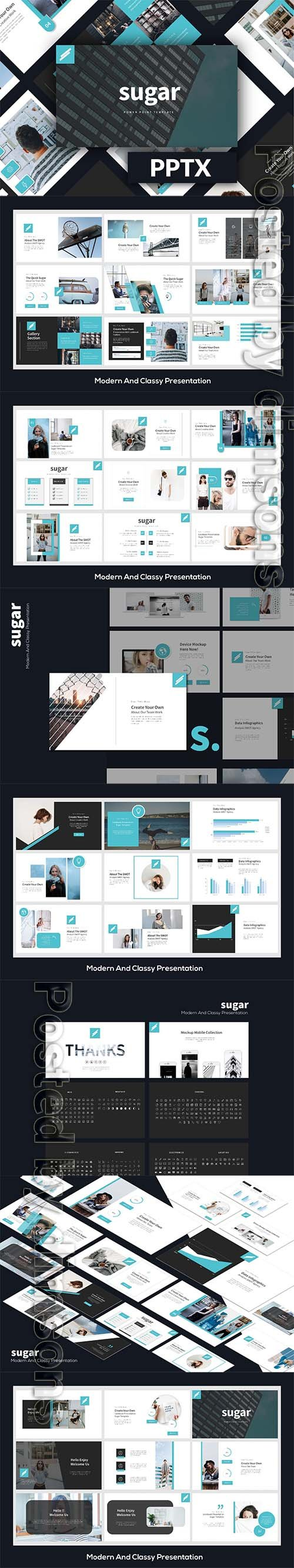Sugar Business Powerpoint LS, Keynote and Google Slides Templates