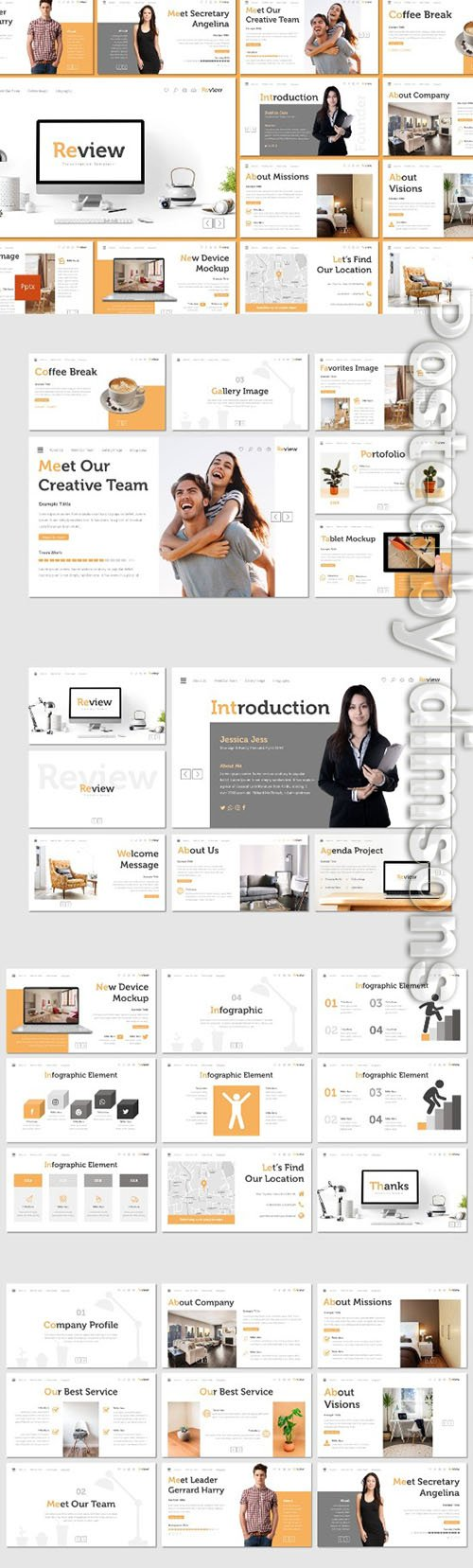 Review - PowerPoint, Keynote and Google Slides Templates