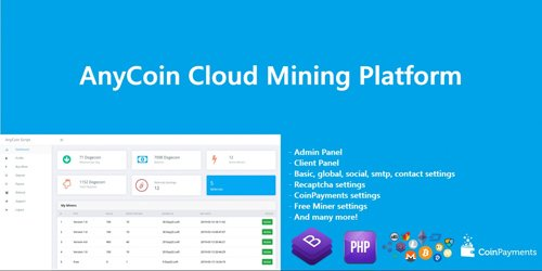 CodeSter - AnyCoin Cloud Mining Script v1.0.2 - 12041