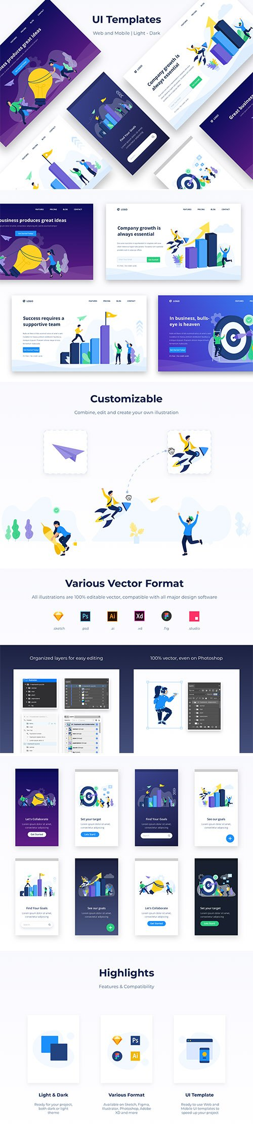 Startup and New Business Mobile Vector Vol.01
